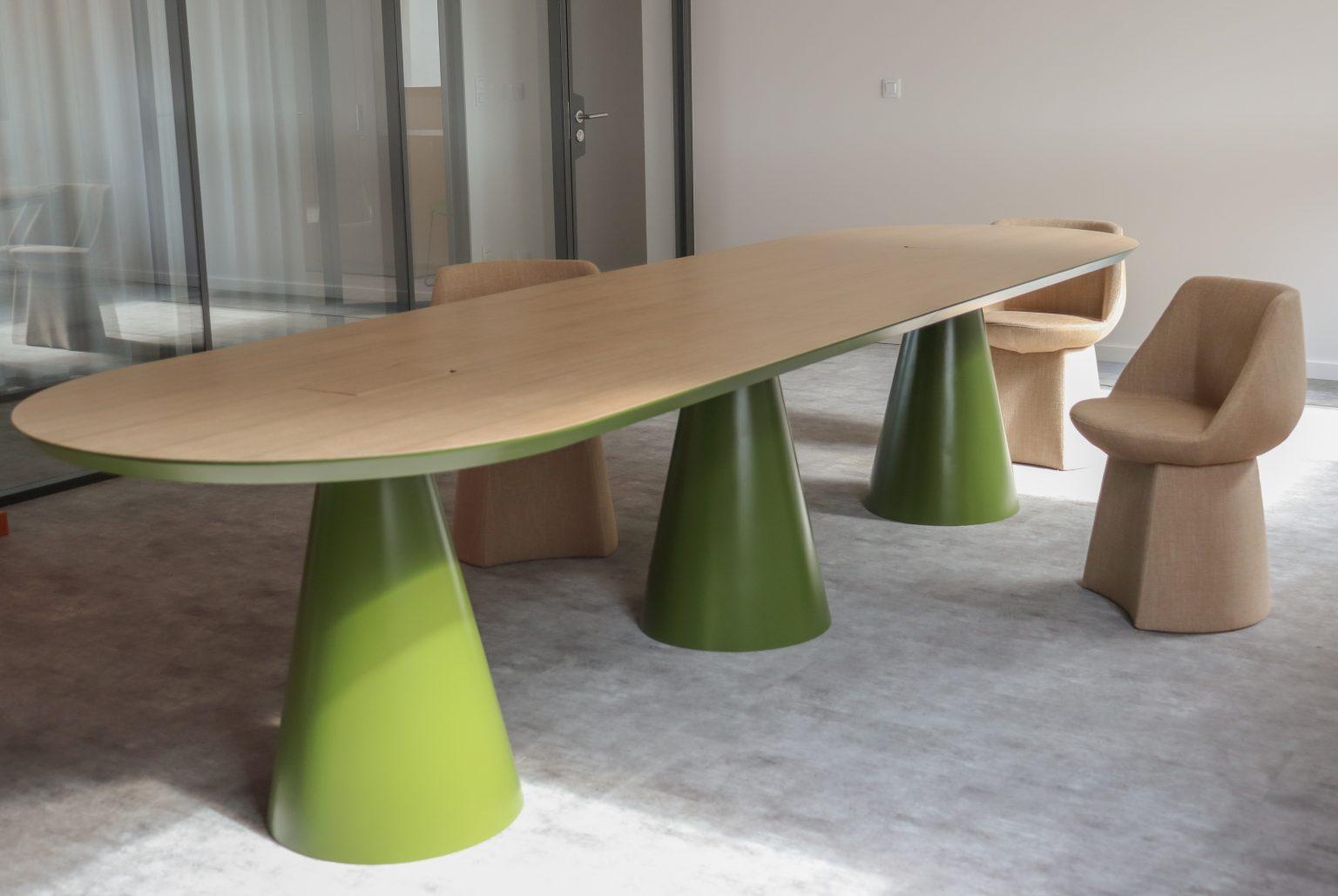table de réunion design table seventies gigi desgin