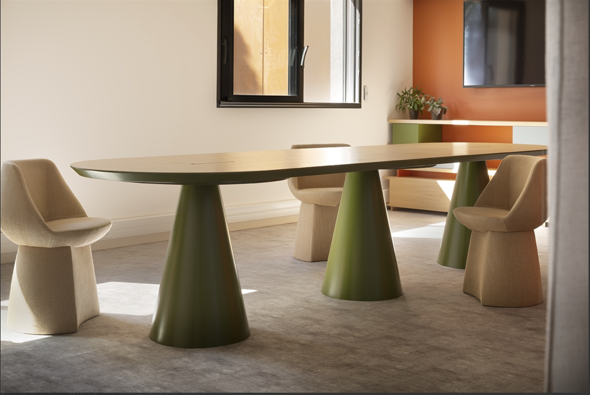Table seventie's table de réunion designer